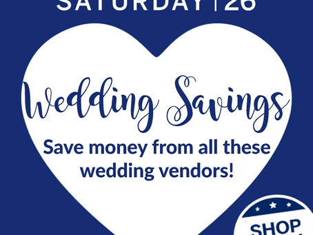 Wedding Discounts for Small Business Saturday from Local Wedding Vendors