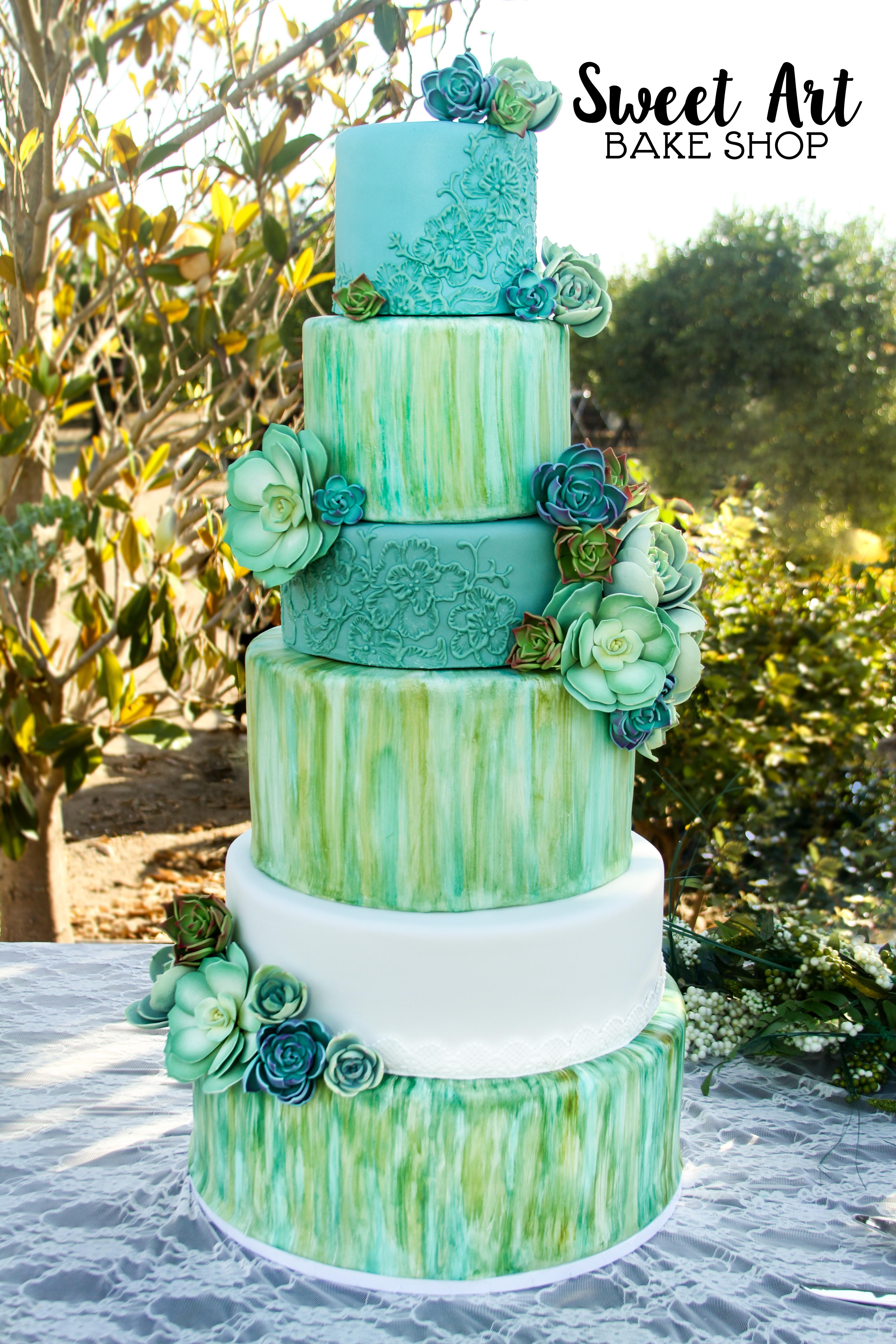 Bridgette & Jay's Succulent Cake