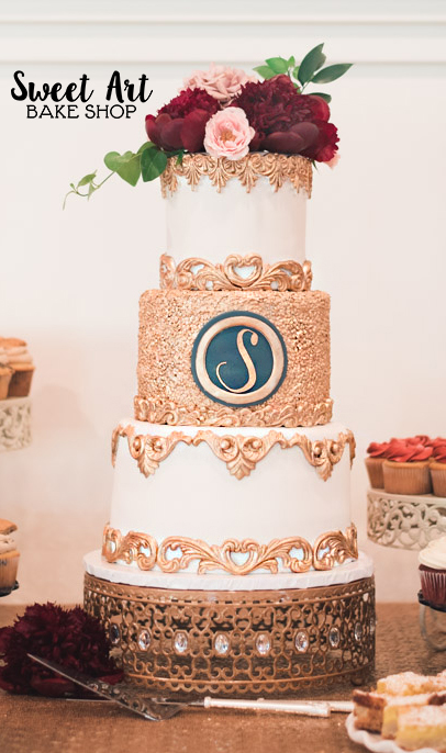 Nichelle & Jason's Wedding Cake
