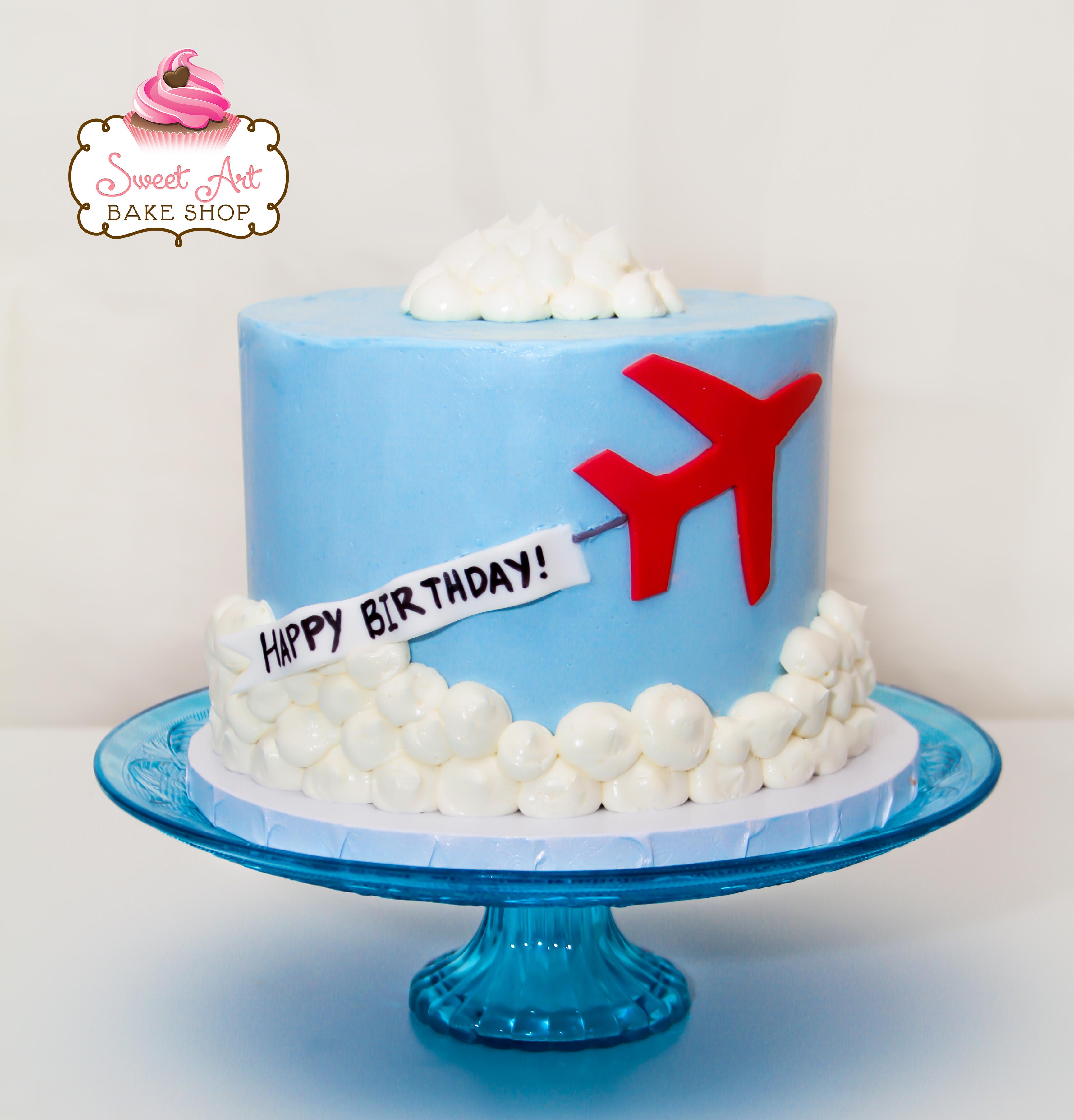 Airplane Smash Cake
