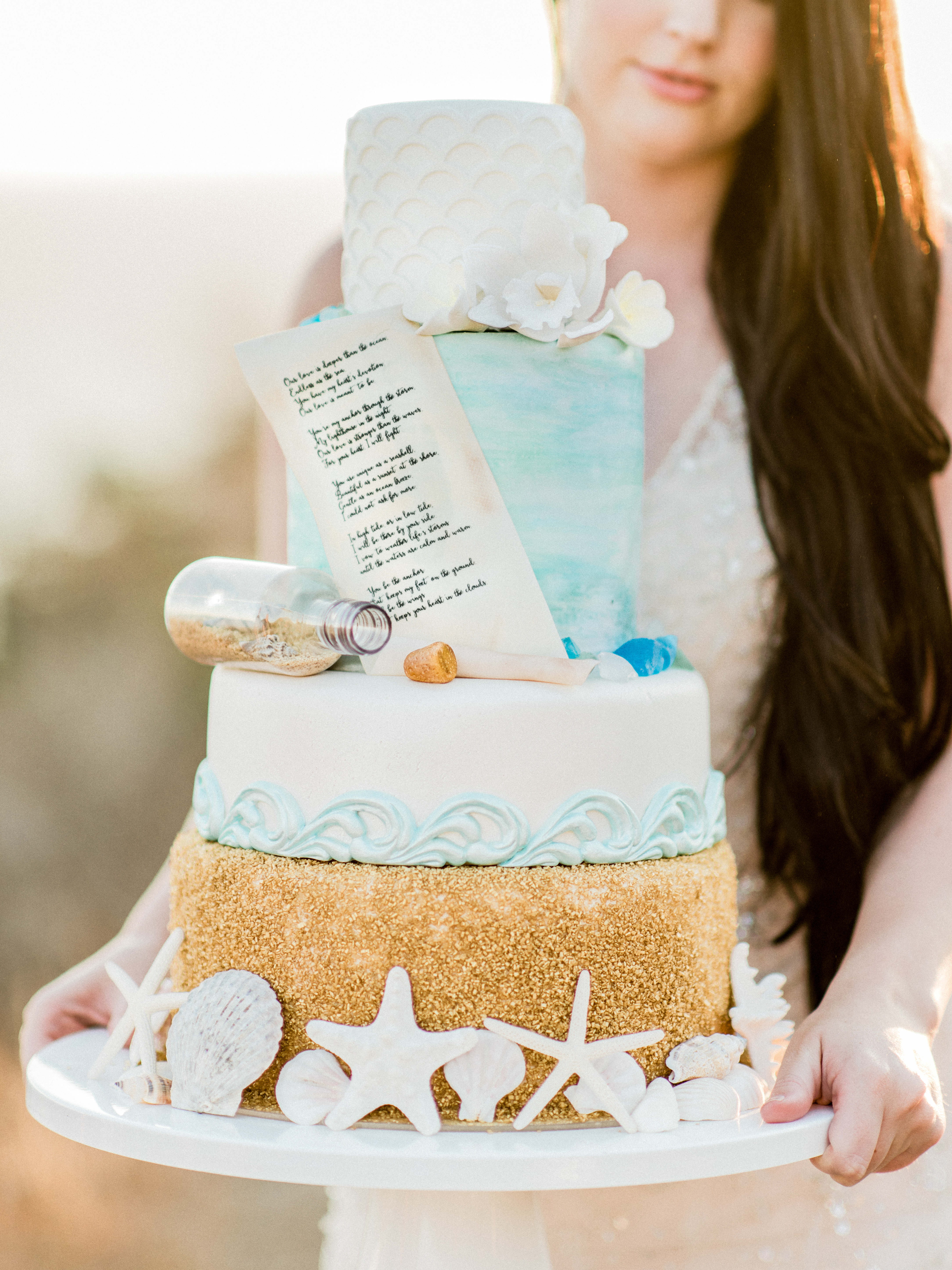 Message in a Bottle Cake