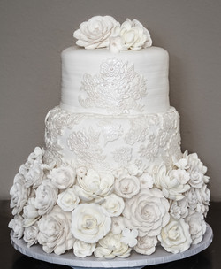 Christa & Courtney's Wedding Cake
