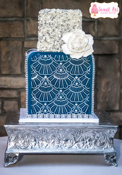 Art Deco 2 Tier Cake