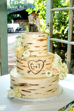 Buttercream Birch Cake