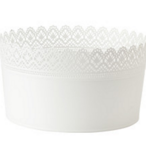 White Lace Bucket for Cake Pops & Pie Pops