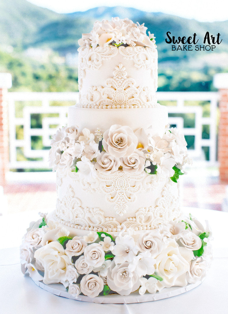 Lace Flower wedding cake.jpg