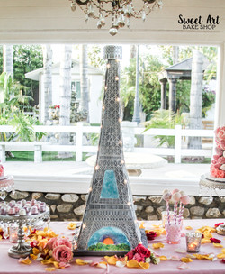 Paris Eiffel Tower Wedding Cake