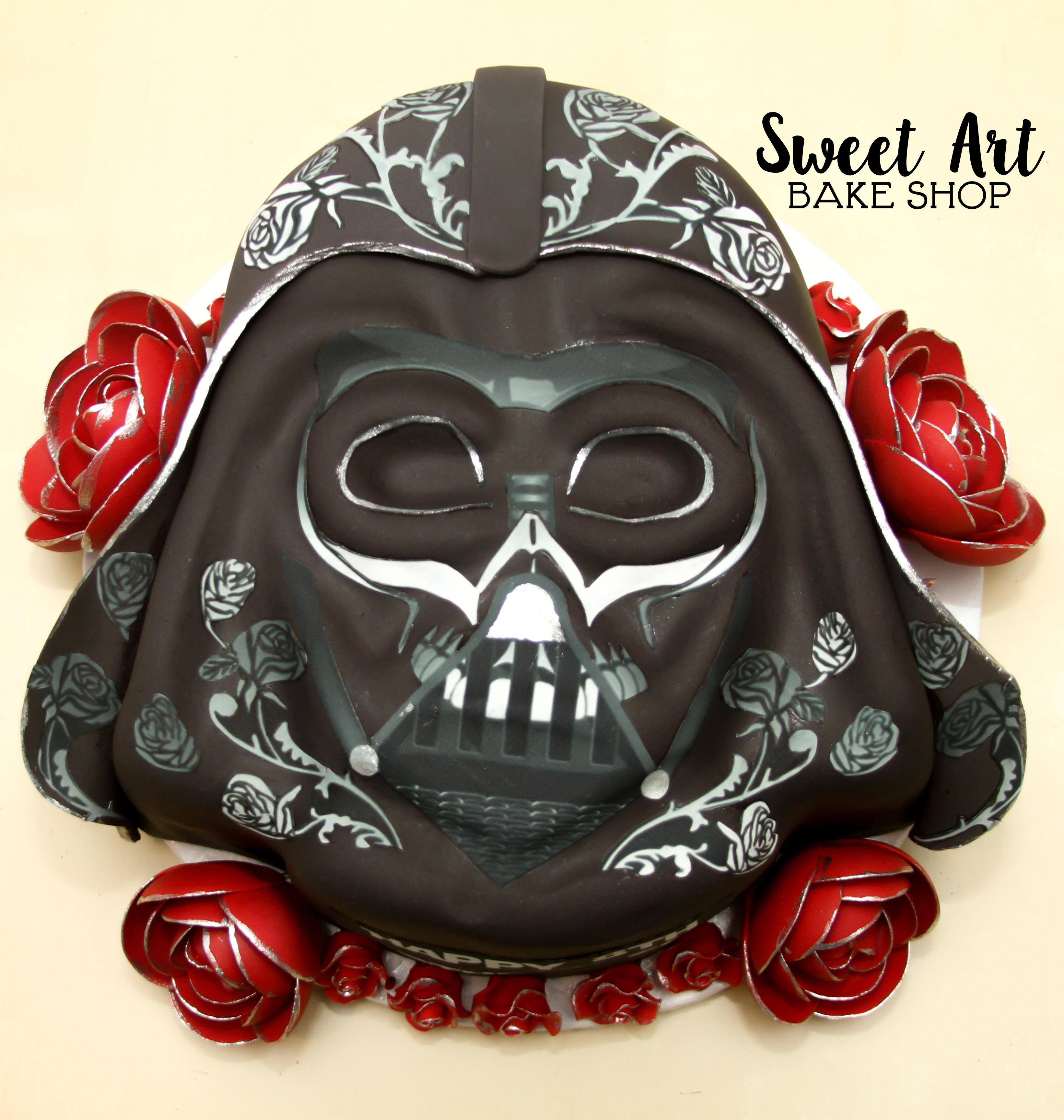Darth Vader Sugar Skull Cake