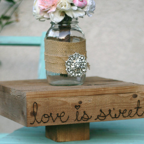"""14"""" Love is Sweet Cake Stand"""
