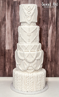 Boho Macrame Wedding Cake