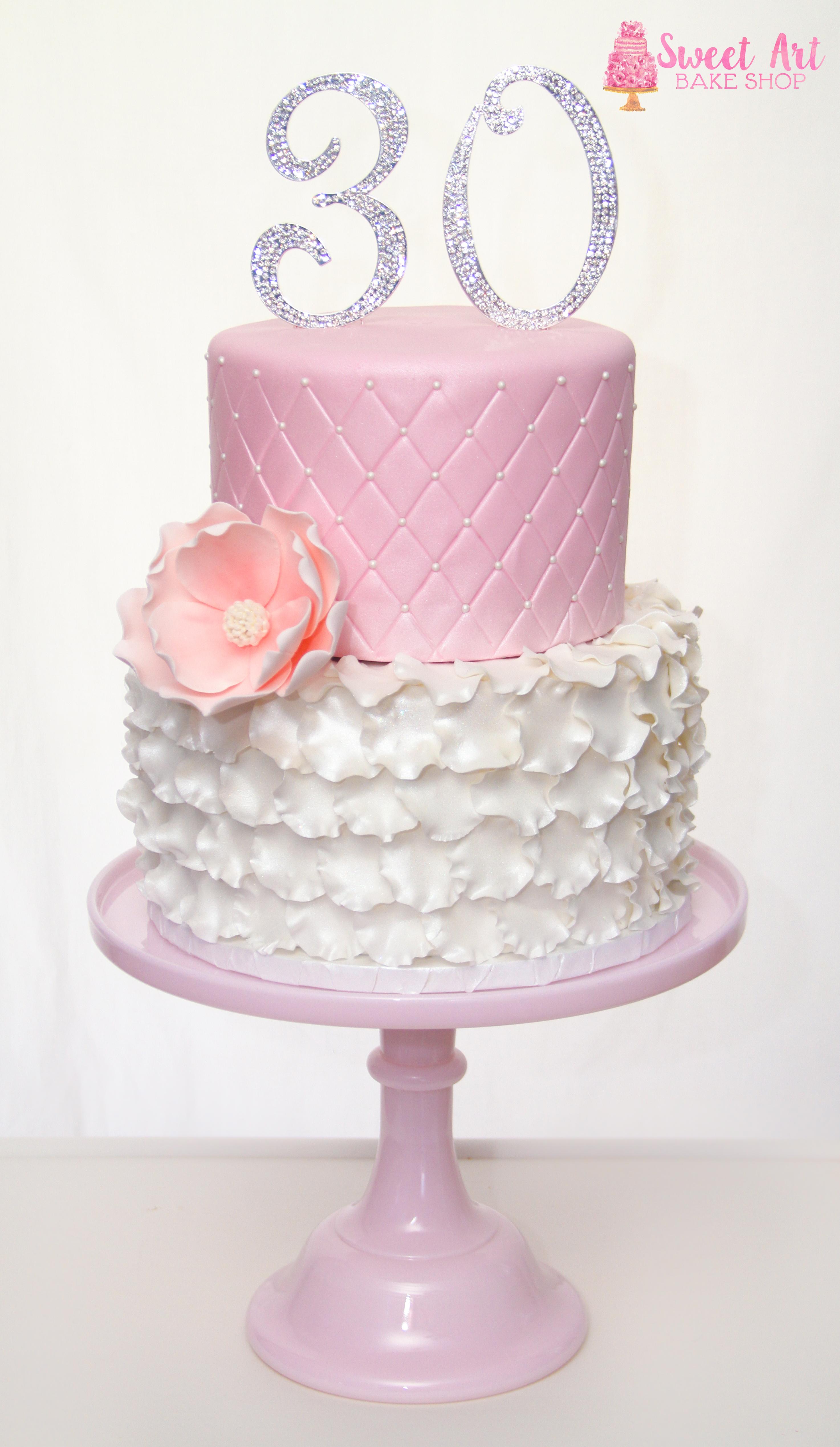 Jordan's Pretty 30th Cake