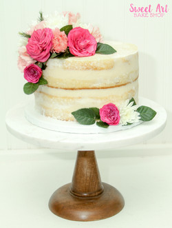 Naked Wedding Cutting Cake