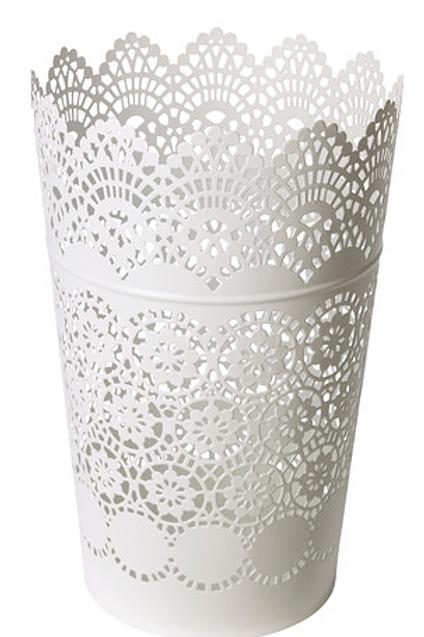 Large White Lace Vase for Cake Pops