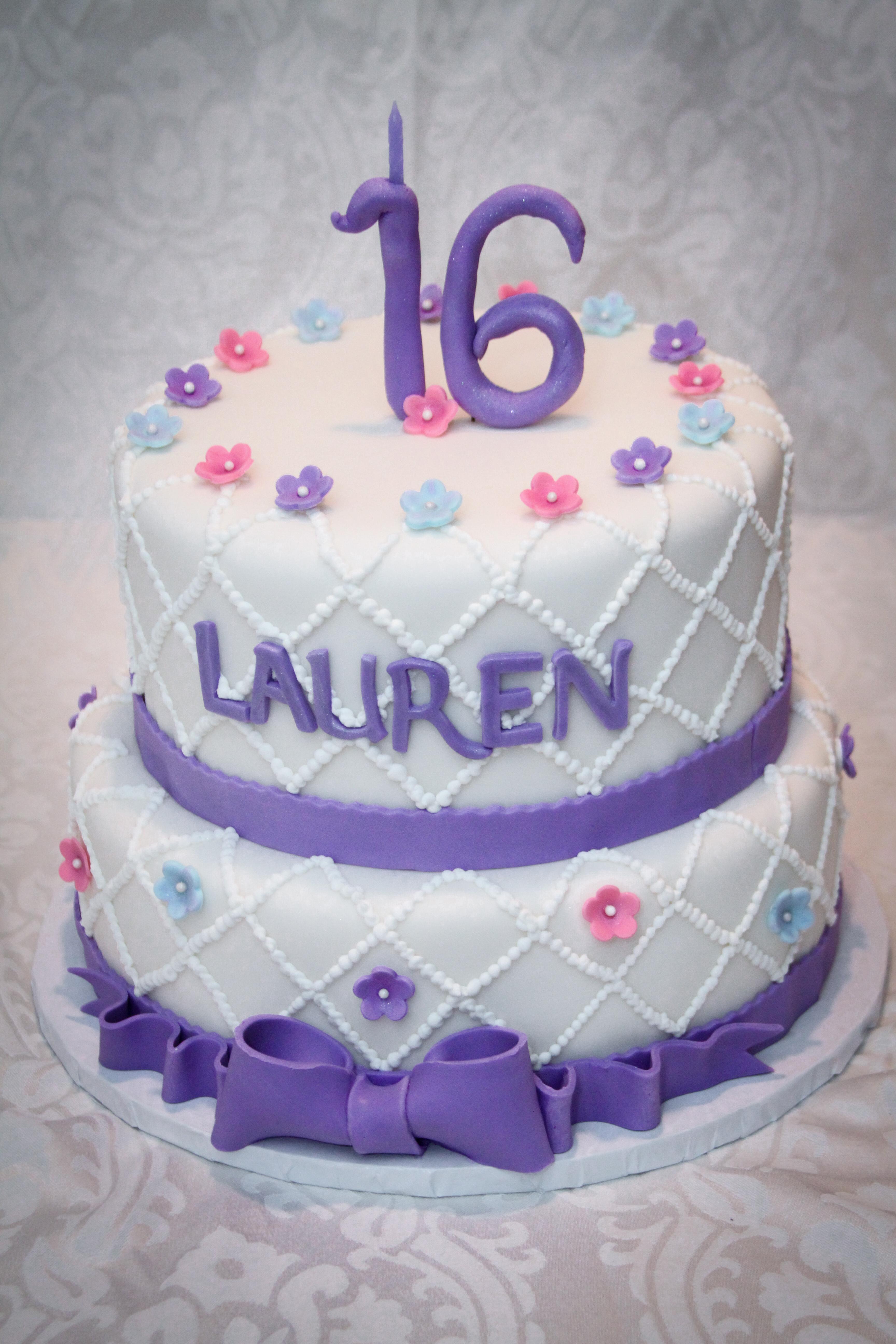 Lauren's Sweet 16 Cake
