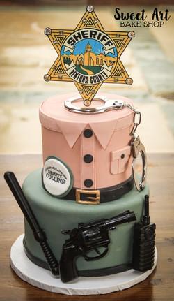 Jeff's Sheriff Grad Cake
