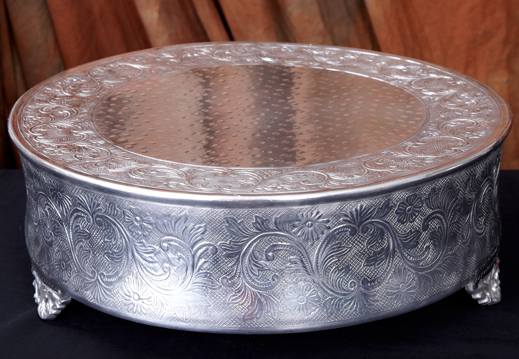 """22"""" Silver Plated Wedding Cake Stand"""