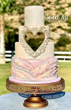 Sweet Heart Wedding Cake