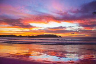 praia do forte por do sol