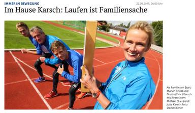 Laufen ist Familiensache (Bericht der NOZ)