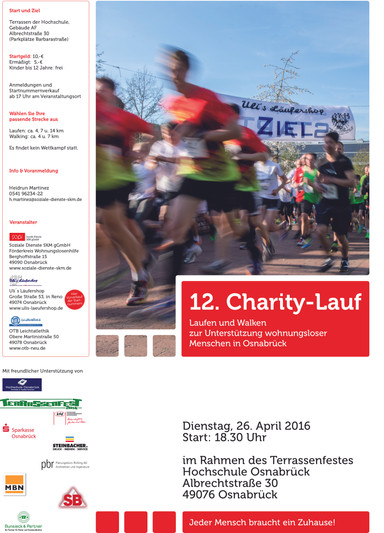 Charity-Lauf am 26. April 2016