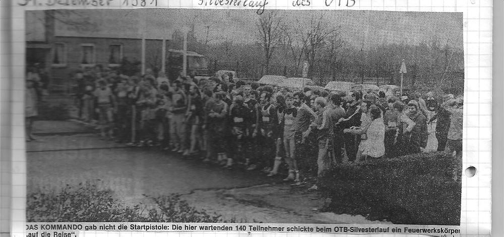 Zeitungsausschnitt Silversterlauf 1981