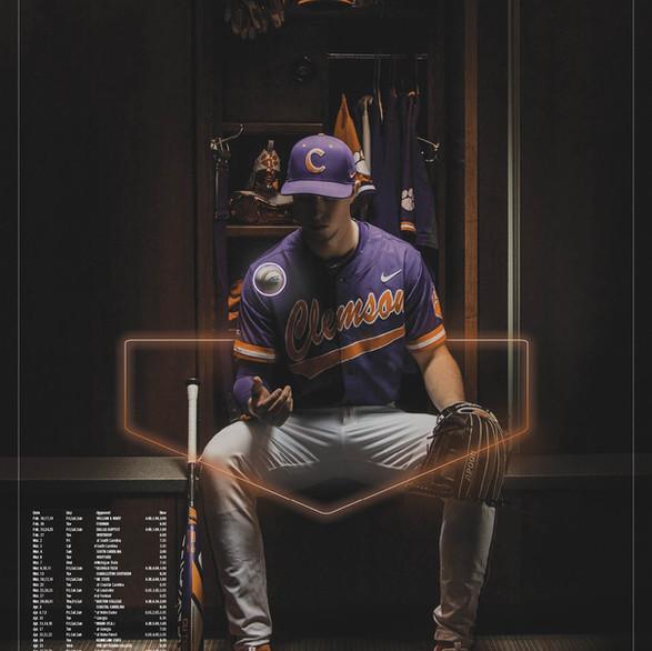 """""""Clemson Baseball"""" // 2018 Schedule Poster"""
