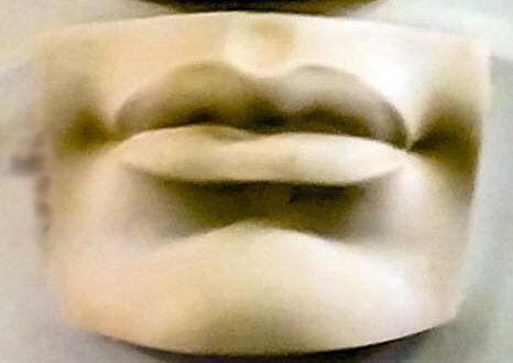 Lips from Michelangelo's David