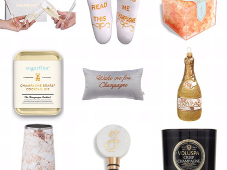 GIFT GUIDE FOR THE GIRL THAT LOVES CHAMPAGNE