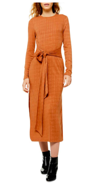tie waist long sleeve dress nordstrom sale