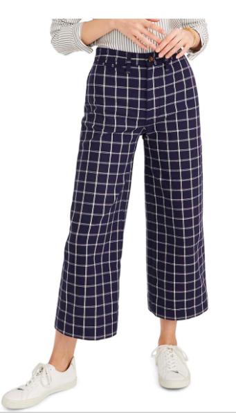 Windowpane Wide Leg Pant Nordstrom Sale