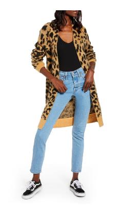 Leopard Long Cardigan