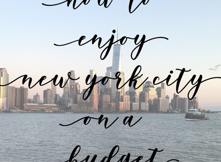 How to Enjoy New York City on a Budget!