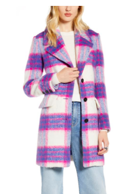 Purple Plaid Coat