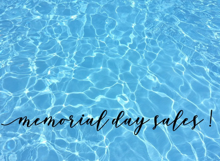 Your Ultimate Guide to Memorial Day Sales!!