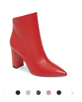 Red Bootie Nordstrom Sale