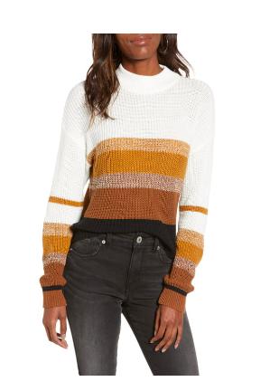 Striped Mock Neck Sweater Nordstrom Sale