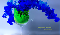 acrylic ink in water