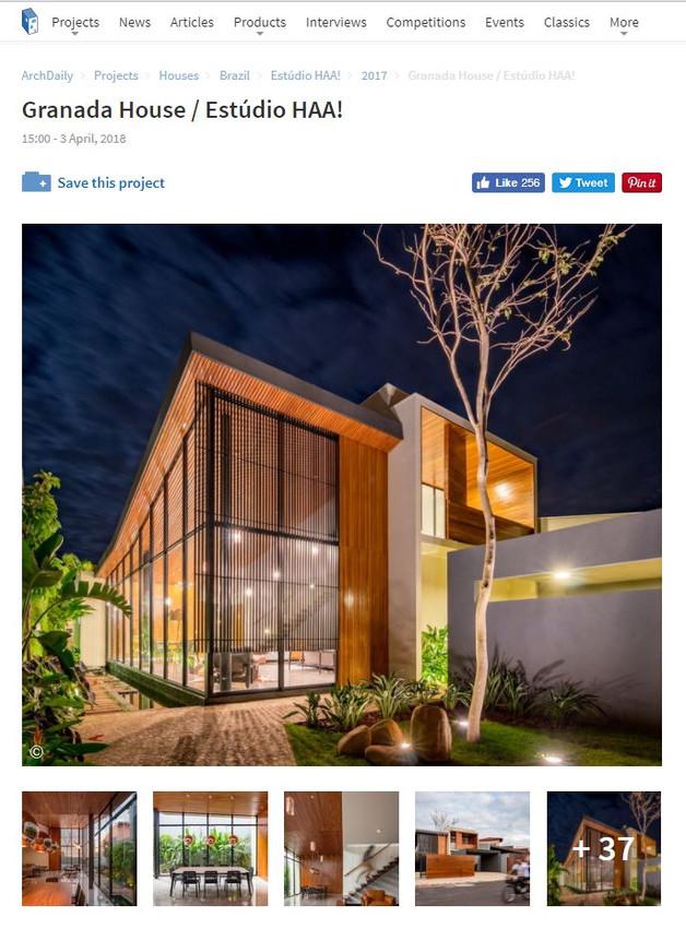 Casa Granada publicada no Archdaily