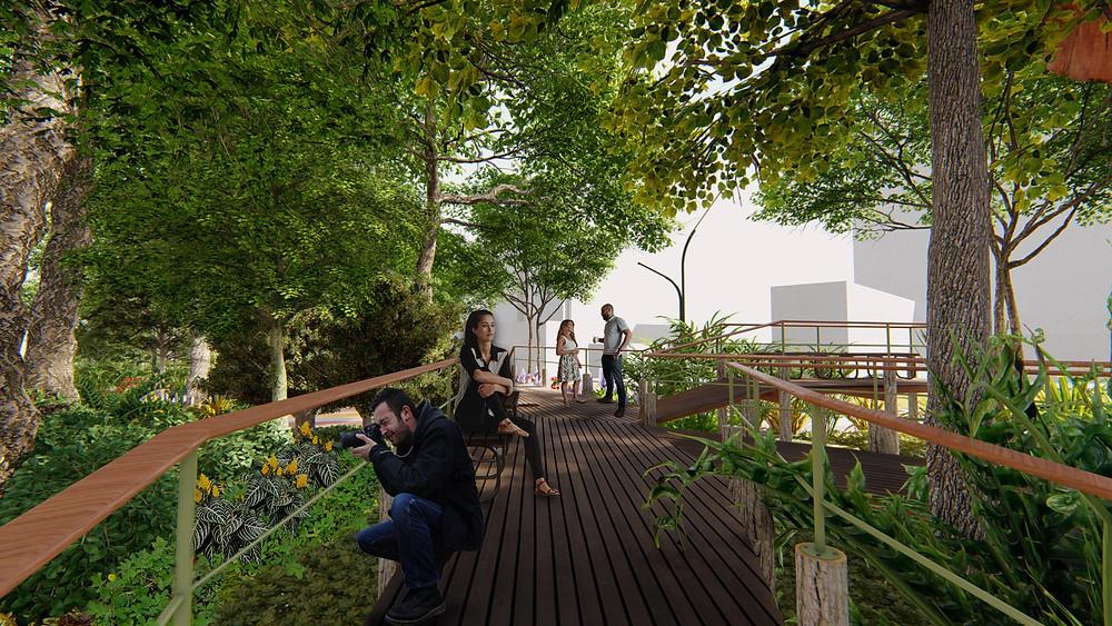 Projeto Praça Benedito Calixto - deck - Estúdio HAA!