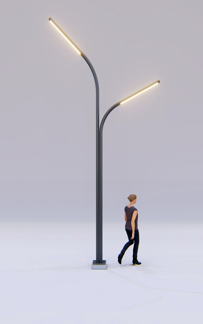 Poste de iluminação praça - Estúdio HAA!
