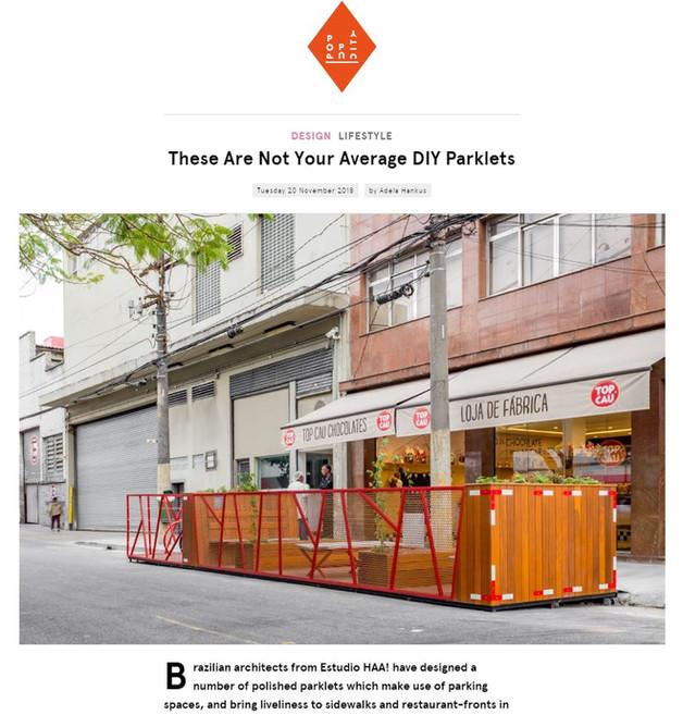 "Publicação Pop-Up City: ""These Are  Not Your Average DIY Parklets"""