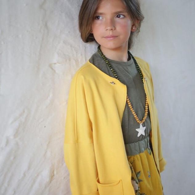 Saia hortenses; Casaco amarelo – 30% desconto