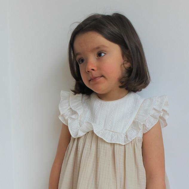 Vestido Flor de Algodão - 30% desconto