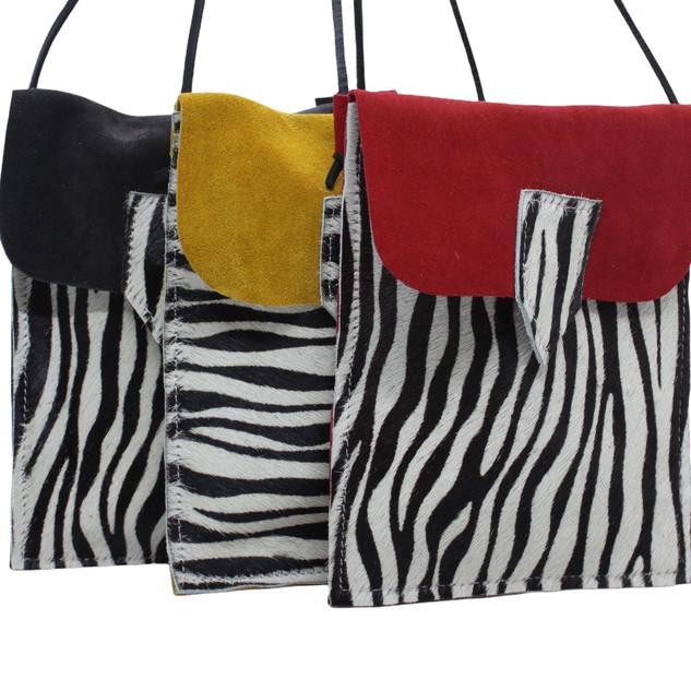 Bolsas Telemóvel_ camurça+zebra