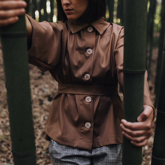 CANVAS JACKET_BLOUSE-Chicory Coffee