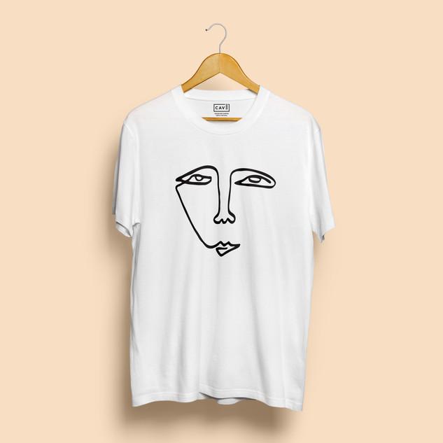 Tshirt Branca Cara