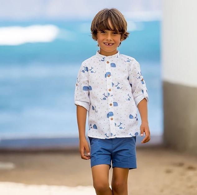 Camisa Baleias; Bermudas Mar – 30% desconto