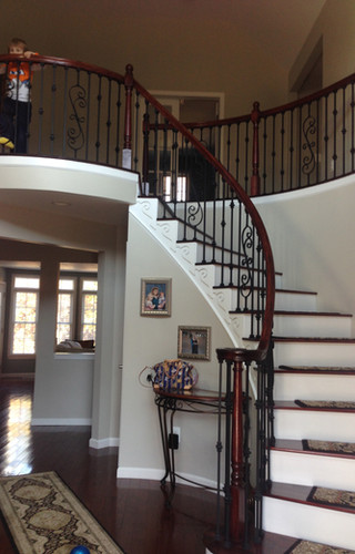 Handcrafted Curved Staircase by Ken Shelton Construction