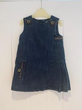 Next denim dress 12-18 months