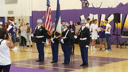 Color Guard at the 2018 Pep Rally